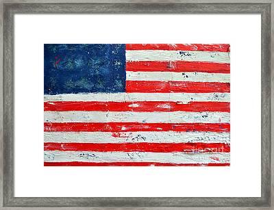 America Framed Print by Nicky Dou