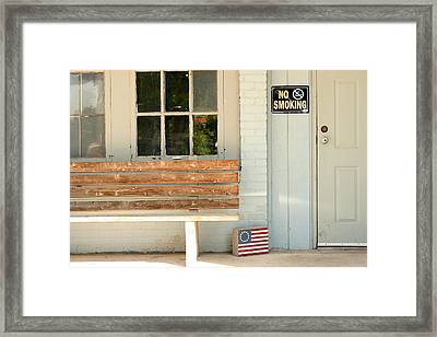 America No Smoking Framed Print