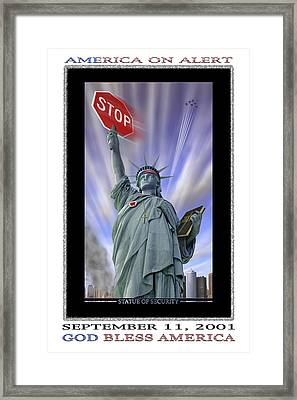America On Alert II Framed Print by Mike McGlothlen