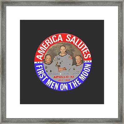 America Salutes First Men On The Moon Apollo 11 July 1969-2015 Framed Print by David Lee Guss