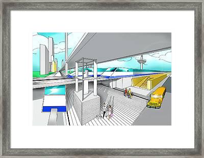 America Station Framed Print by Jose Roldan Rendon