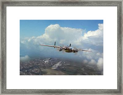 Framed Print featuring the digital art America Strikes Back by Peter Chilelli