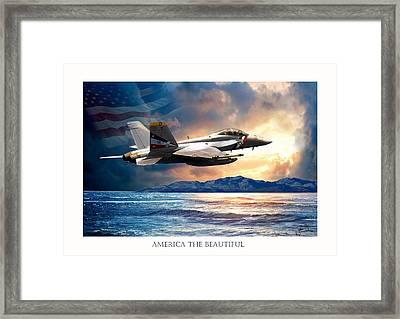 America The Beautiful Framed Print by Regina Femrite