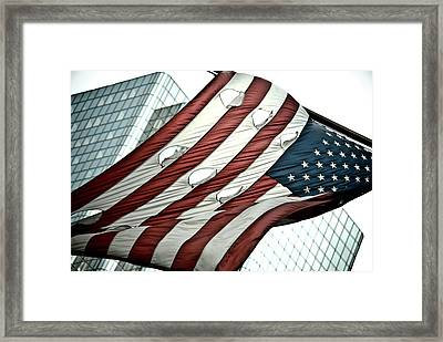 America Torn Framed Print by Andrew Kubica