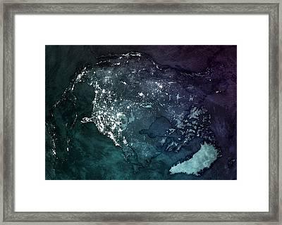 America Upsidedown Framed Print by Marco Bagni