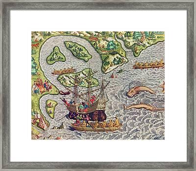 Americae Tertia Pars Framed Print by Theodore de Bry