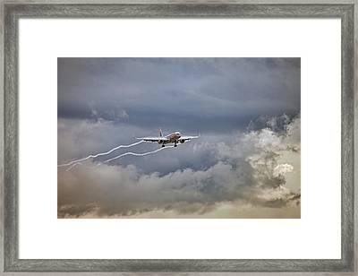 American Aircraft Landing Framed Print