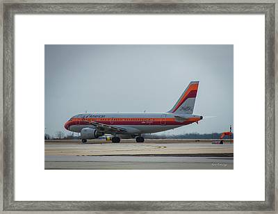 American Airlines Airbus A319-100 Psa N742ps Art Framed Print