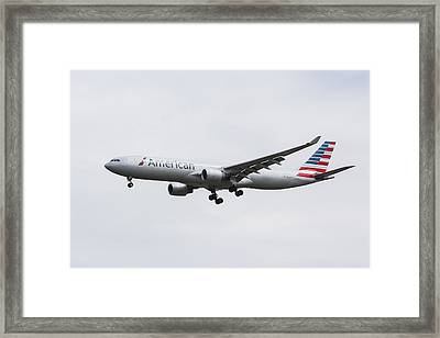 American Airlines Airbus A330 Framed Print