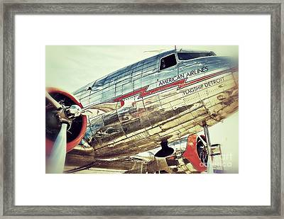American Airlines Framed Print by AK Photography