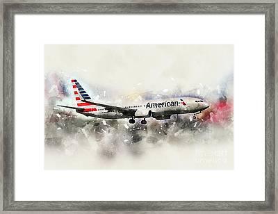 American Airlines Boeing 737-823 Framed Print