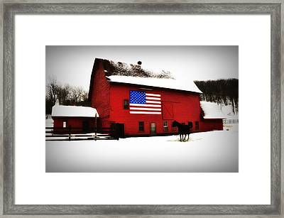 American Barn Framed Print by Bill Cannon