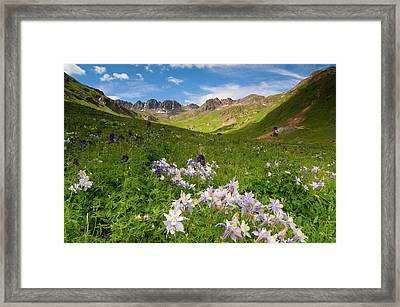 Framed Print featuring the photograph American Basin by Steve Stuller