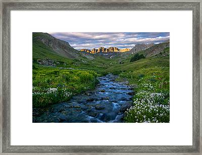 Framed Print featuring the photograph American Basin Stream by Aaron Spong