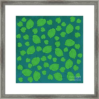 American Basswood In Green Framed Print by Emily Kay