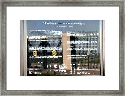 Framed Print featuring the photograph American Battle Monuments Commission by Travel Pics