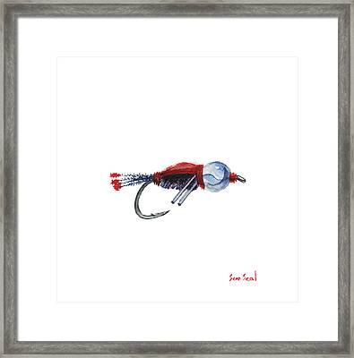 American Bead Head Framed Print