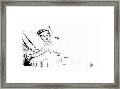 American Beauty   Marilyn Monroe Framed Print by Iconic Images Art Gallery David Pucciarelli