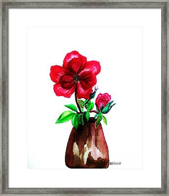 American Beauty Rose Framed Print