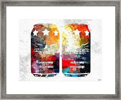 American Beer Cans Framed Print
