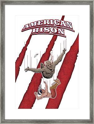 American Bison Poster 1 Framed Print by Steve Benton