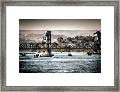 American Blue Bridge Framed Print by Brad Stinson