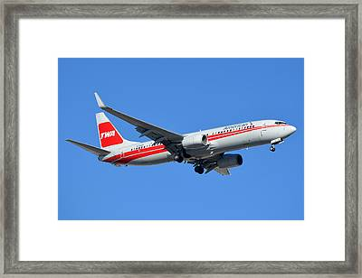 American Boeing 737-823 N915nn Phoenix Sky Harbor January 11 2015 Framed Print by Brian Lockett