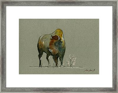 American Buffalo Framed Print by Juan  Bosco