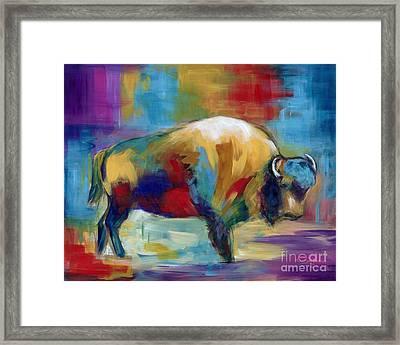 American Buffalo Framed Print by Marilyn Dunlap
