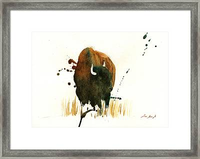 American Buffalo Painting Framed Print