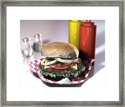 American Burger Framed Print