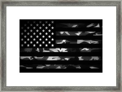 American Camouflage Framed Print