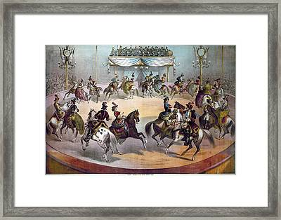 American Circus, C1872 Framed Print