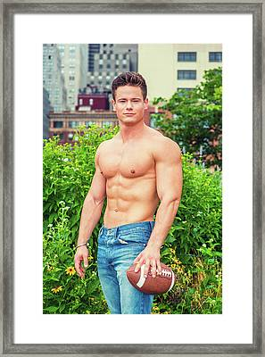 American City Boy Framed Print