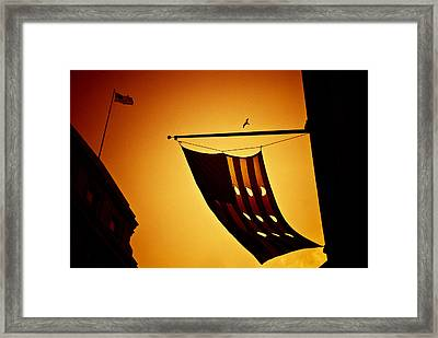 American City Sunset Framed Print by Andrew Kubica