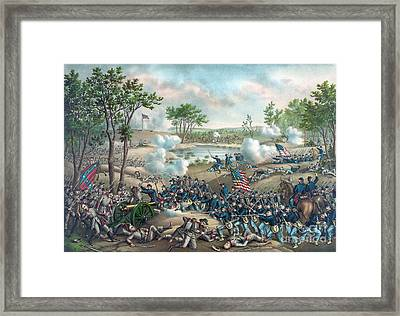 American Civil War, Battle Of Cold Framed Print by Science Source