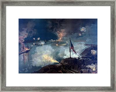 American Civil War, Siege Of Port Framed Print by Science Source