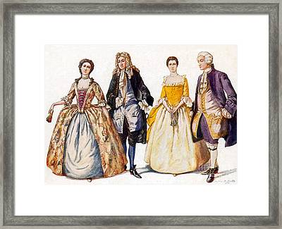 American Colonial Fashion, 18th Century Framed Print by Science Source