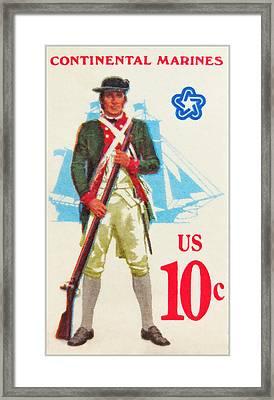 American Continental Marines Framed Print