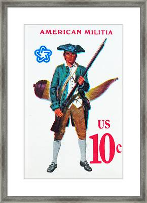 American Continental Militia Framed Print