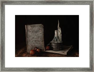 American Cookery Framed Print by Robin-Lee Vieira