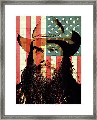 American Country Singer Chris Stapleton Framed Print