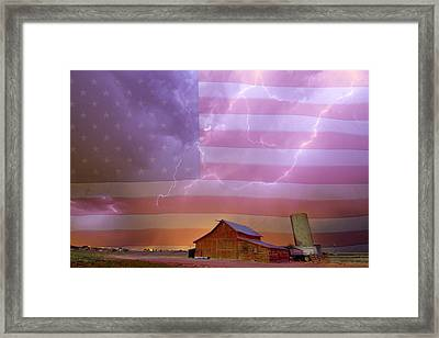 American Country Stormy Night Framed Print