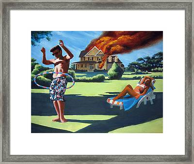 American Couple Redux Framed Print by Geoff Greene