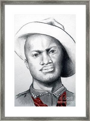 American Cowboy Framed Print