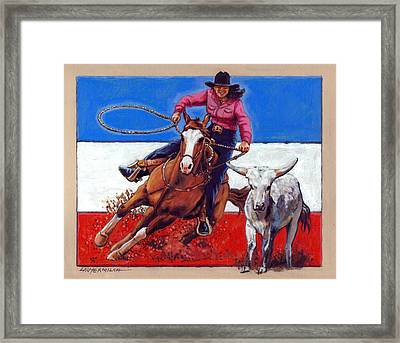 American Cowgirl Framed Print by John Lautermilch
