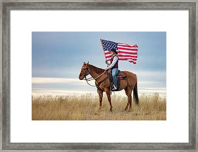 American Cowgirl Framed Print by Todd Klassy