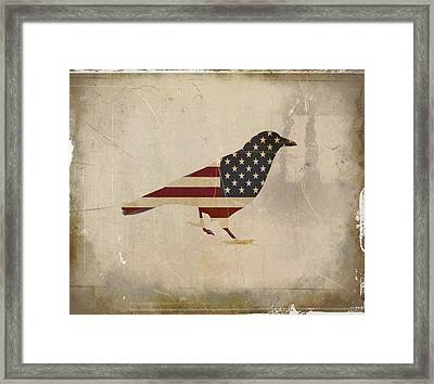 American Crow Framed Print by Gothicrow Images