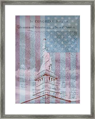 American Declaration Of Independence Framed Print by Dan Sproul