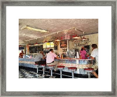 American Dinner Framed Print